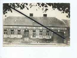 CPSM Abîmée   -  Méricourt L'Abbé  -(Somme) -Le Café De La Place-N°5 - Epicerie .Billard .Tabac.Boucherie.Charcuterie - France