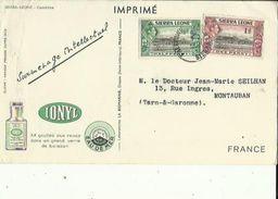Carte (Imprimé Sur Les Traces De Marco-polo (IONYL _Eau De Mer _Gouttes Aux Repas_Surmenage -Intellectuel - Sierra Leone