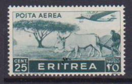 COLONIE ITALIANE ERITREA POSTA AEREA 1936  SOGGETTI AFRICANI SASS. 17  MLH XF - Eritrea