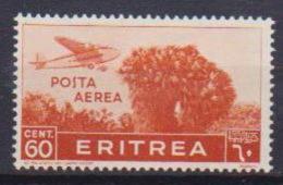 COLONIE ITALIANE ERITREA POSTA AEREA 1936  SOGGETTI AFRICANI SASS. 19  MLH XF - Eritrea