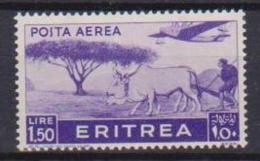 COLONIE ITALIANE ERITREA POSTA AEREA 1936  SOGGETTI AFRICANI SASS. 22  MLH XF - Eritrea