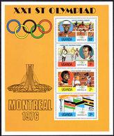 Uganda 1976 Olympics Souvenir Sheet Unmounted Mint. - Uganda (1962-...)