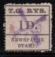 Tasmania 1902 1d Railway Stamp - Cinderellas