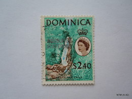 DOMINICA 1968, Coconut Tree Stamp Overprinted 'Associated Statehood', $2.40. SG 230. Used. - Dominica (...-1978)
