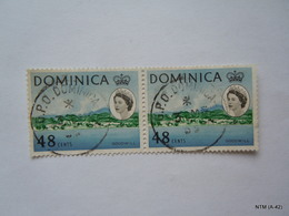 DOMINICA 1963, Queen Elizabeth In Inset, 48 Cents, Block Of 2. Goodwill. SG 174. Used. - Dominica (...-1978)