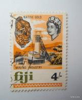 FIJI 1968, Queen Elizabeth II, Native Gold Mining Industry, 4/ SG384, Used. - Fiji (...-1970)