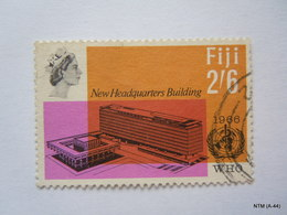 FIJI 1966 Queen Elizabeth II In Inset, 'WHO' New Headquarter Building, Set Of 2 Stamps. 6d & 2s 6d. SG 354-55, Used. - Fiji (...-1970)