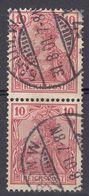 ALLEMAGNE -  DEUTSCHLAND - GERMANIA - 1900 - Due Valori Yvert 54, Obliterati, Uniti Fra Loro. - Deutschland