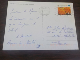 CPSM LES SEYCHELLES  ANSE SOURCE D ARGENT LA DIGUE TIMBREE 1999 NICE STAMPS - Seychelles