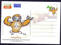 Norfolk Island 2001 Postcard Showing Owl - Uilen