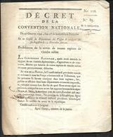 Décret De La Convention Nationale  N° 108 - Decreti & Leggi