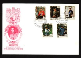 PENRHYN ISLAND 1981 Prince Charles Set With Handicapped Surcharge FDC.....89487 - Penrhyn
