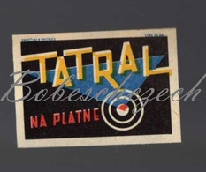 70-91 CZECHOSLOVAKIA 1961 TATRAL Tatrachema Trnava - Cleaning Preparation For Aluminium And Enameled Dishes - Boites D'allumettes - Etiquettes