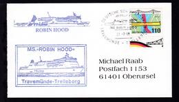 DEUTSCHE SCHIFFSPOST TT-Line MS Robin Hood TRAVEMÜNDE-TRELLEBORG 27.7.98 +  - Non Classés
