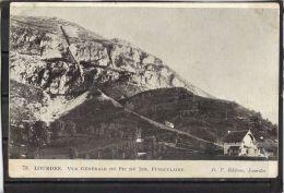 65241 . LOURDES . VUE GENERALE DU PIC DE JER . FUNICULAIRE  .  (recto/verso)  D. T - Lourdes