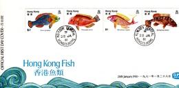 Hong Kong 1981 Fish FDC - Hong Kong (...-1997)