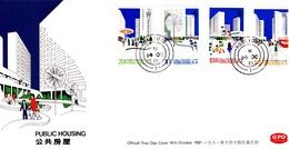 Hong Kong 1981 Public Housing FDC - Hong Kong (...-1997)
