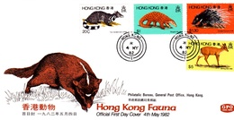 Hong Kong 1982 Fauna FDC - Hong Kong (...-1997)