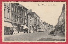 Binche - La Rue De Charleroi ... Tram ( Voir Verso ) - Binche
