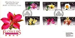 Hong Kong 1985 Orchids FDC - Hong Kong (...-1997)