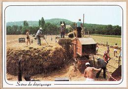 Met011 Midi Pyrenées Tarn ? Scène De DEPIQUAGE Les Petits Métiers De Chez Nous - Toilée AS COEUR N°54 Cpagr - Tracteurs