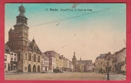 Binche - Grand'Place Et Hôtel De Ville ... Colorisée - 1933 ( Voir Verso ) - Binche