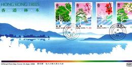 Hong Kong 1988 Indigenous Trees FDC - Hong Kong (...-1997)