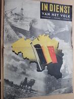 IN DIENST Van Het VOLK Maandblad Februari Nummer 1 ( Zie Foto's ) Geplooid / Plier ! - Revistas & Periódicos