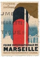 """FRANCE - 2 Vignettes """"Foire De Marseille"""" - Erinnophilie"""