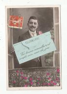 Cp , Poste , Télégramme , Vos Bonnes Nouvelles... , Homme , Voyagée 1910, Union Postale Universelle - Postal Services