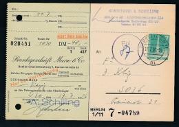 Berlin  Postscheck Karte   .(t5099  ) Siehe Scan - [5] Berlin