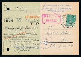 Berlin  Postscheck Karte   .(t5094  ) Siehe Scan - [5] Berlin