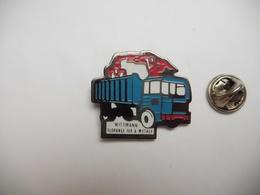 Beau Pin's , Transport Camion , Wittmann , Florange , Fers Et Métaux , Grue Levage - Transportation