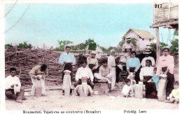 EQUATEUR ECUADOR MONTECRISTI TEJEDORES DE SOMBREROS 1910 - Ecuador