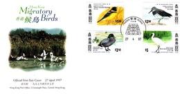 Hong Kong 1997 Migratory Birds FDC - 1997-... Région Administrative Chinoise