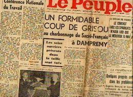 (DAMPREMY) – Charbonnage Du Sacré-français  - Coup De Grisou – 16 Victimes – Lot De 2 Journaux Complets (5/1946) - Kranten