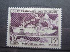 VEND BEAU TIMBRE DE LA COTE FRANCAISE DES SOMALIS N° 285 , X !!! - Unused Stamps