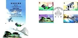 Hong Kong 1997 Modern Landmarks FDC - 1997-... Chinese Admnistrative Region