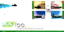 Hong Kong 1998 Centenary Of The Star Ferry FDC - 1997-... Chinese Admnistrative Region