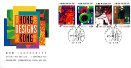 Hong Kong 1998 Designs FDC - 1997-... Région Administrative Chinoise
