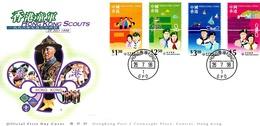 Hong Kong 1998 Scouts FDC - 1997-... Région Administrative Chinoise