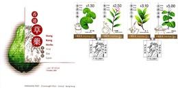 Hong Kong 2001 Herbs FDC - 1997-... Région Administrative Chinoise