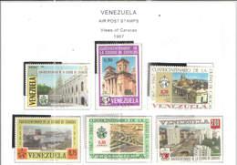 Venezuela PA 1967 Vedute Caracas  Scott.C977/982+ See Scans On Scott.Page - Venezuela