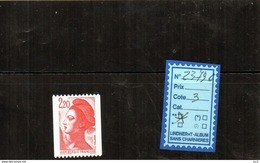 ROULETTE LIBERTE DE GANDON LUXE** N° 2379c - 1982-90 Liberty Of Gandon