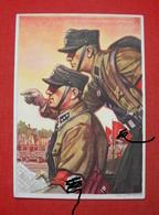 """""""Schutz-Staffel-Werbekarte Nr. 3"""",Propagandakarte, Farbig Gestaltet, Ungebraucht SELTEN !! - Deutschland"""
