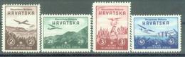 HR 1942-70-3 AIR PLAIN MODEL, CROATIA, 1 X 4v, MNH - Kroatien