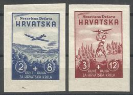 HR 1942-74-7 AIR PLAIN MODEL, CROATIA, 1 X 2v, MNH - Kroatien