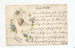 Cp , ANGE , Illustrateur , Fleurs , Dos Simple , Voyagée 1899 ,3 Scans, Miesler N° 2117 , Berlin - Anges