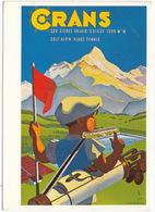 GOLF Alpin: Affiche Pour L'Office Du Tourisme De Crans-sur-Sierre 1943 (Martin Peikert) - Plage-Tennis -  (Suisse) - Golf