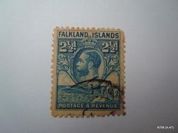 FALKLAND ISLANDS 1929, King George V (in Center), Postage And Revenue Stamp 2 1/2 D. SG119, Used. - Falkland Islands